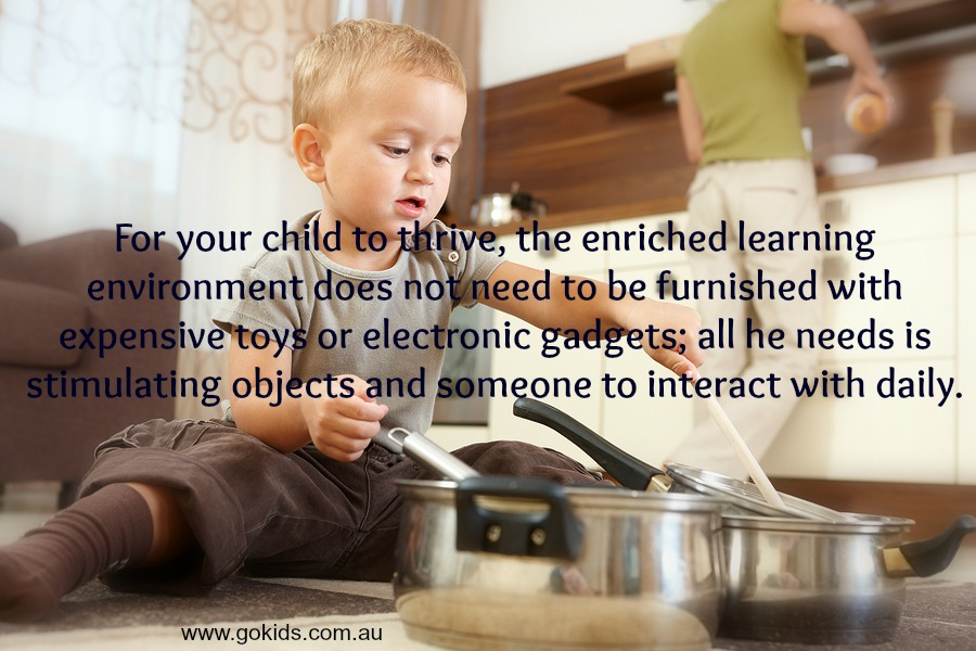 To a child, playing is learning